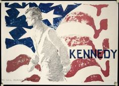 Ted Kennedy - To Sail Against the Wind. Ted Kennedy's campaign poster.  USA, 1980th.