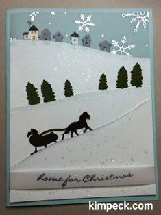 Stampin' Up! Jingle All the Way and Sleigh Ride Thinlits - home for Christmas