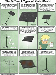 Totally happens!!! music stands