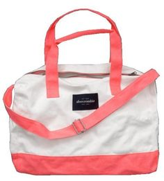 Abercrombie Kids Girls Duffle Bag (Coral):Amazon:Clothing
