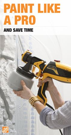 Paint sprayers are professional painters' best kept secret. Whether you're painting the interior or exterior of your home, the easy-to-control Wagner Flexio 590 covers twice the space in less than half the time. As an bonus, it also paints textured surfaces like brick, stone, and wood better than rollers and brushes alone. Click to find everything you need to prep and paint your home perfectly.