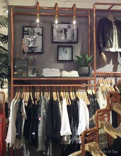 Allestimento del negozio di abbigliamento svedese Odd Mollyrealizzato con tubi di rame