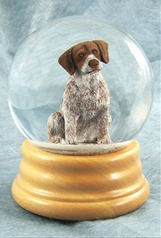 German Wire-haired Pointer Dog Musical Water Snow Globe - You've Got a Friend Tune $99.99 at DogLoverStore.com