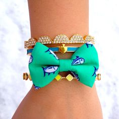 Southern Tide Bow Tie Bracelet by OhSoBowBracelets on Etsy, $10.00