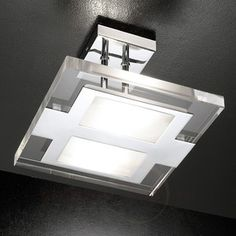 Moderne design-plafondlamp CONFINE, chroom 8539102