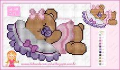 """Gráficos Ponto Cruz """"Monograma Pluto""""   Delicado Cantinho   Bloglovin' Free Cross Stitch Charts, Cross Stitch For Kids, Cross Stitch Cards, Cross Stitch Baby, Cross Stitch Animals, Cross Stitch Kits, Cross Stitch Designs, Cross Stitching, Cross Stitch Embroidery"""
