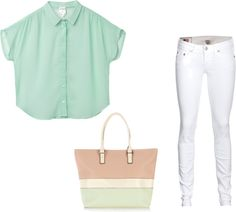 """""""Touch of Tirquoise"""" by dominiquee920 ❤ liked on Polyvore"""
