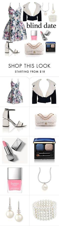"""blind date outfit"" by noviandri-ronal ❤ liked on Polyvore featuring Sans Souci, Jean Patou, Alexander Wang, Chanel, Burberry, Clé de Peau Beauté, Majorica, Belpearl and Astoria"