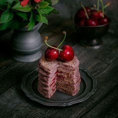 Sour Cherry Pancakes | Rainbow in My Kitchen