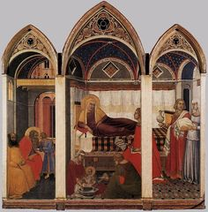 Pietro Lorenzetti, Birth of the Virgin, 1342. Siena, Museo dell'Opera del Duomo