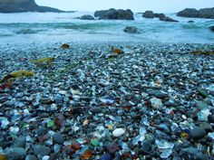 Glass beach in Fort Bragg, Northern California