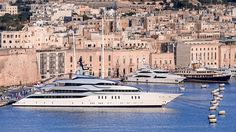 TIO yacht exhaust systems - silent Dutch built superyacht moored in the mediterranian