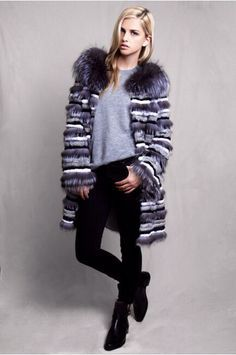 LILLY E VIOLETTA #fashion #fur #coat #jacket #stripes #fox #luxury #lillyevioletta @lillyevioletta1