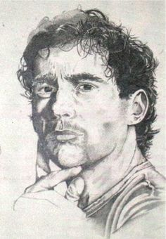 Ayrton Senna. Pencil portrait. http://www.thegalleryofspeed.com/ #motorsport #f1 #automotive #formula #one #race #car #lemans #btcc #le #mans #auto #art #mcqueen #steve #bullitt #mustang