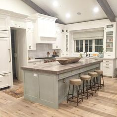 """Caitlin Creer Interiors on Instagram: """"This beautiful kitchen is coming to life at the #midwayfarmhouse"""""""