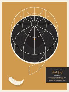 Baruk Records' 15th Anniversary Nada Surf poster by Jason Munn. Ltd. Ed. 100 $30