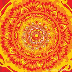 Sun Mandala Royalty Free Stock Photos - Image: 20707818