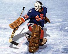 'Jim Craig USA Olympics Hockey, by Matthew Campbell. Ice Hockey Players, Hockey Goalie, Hockey Teams, Hockey Rules, History Of Hockey, Jim Craig, Olympic Hockey, Olympic Athletes, Minnesota North Stars