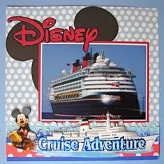 Disney Cruise Scrapbook Page Inspiration Cruise Scrapbook Pages, Vacation Scrapbook, Scrapbook Page Layouts, Scrapbooking Ideas, Scrapbook Designs, Digital Scrapbooking, Scrapbook Paper Crafts, Scrapbook Cards, Picture Scrapbook