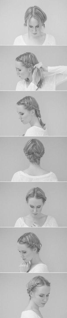 braided crown step-by-step