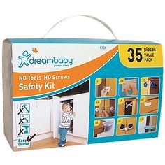 Dreambaby No Tools, No Screws, Safety Kit is perfect for those renting apartments or those who do not want to screw anything into their walls, cabinets, or drawers. Safety Kit, Baby Safety, Parents Room, Seat Protector, Montgomery Ward, Childproofing, Baby Health, Toddler Preschool, Picture Design
