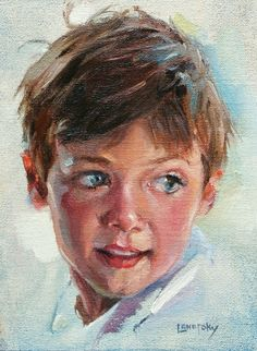 child s portrait in oil on canvas - Heather Lenefsky Art Acrylic Portrait Painting, Oil Portrait, Watercolor Portraits, Human Painting, Oil Pastel Art, Oil Pastels, Pastel Portraits, Art Sketchbook, Photos