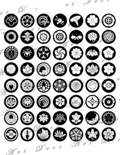 Black and White Japanese Crests, flowers asian design digital collage sheet 165 Japanese Tattoo Designs, Japanese Design, Japanese Art, Japanese Prints, Japanese Sleeve, Design Poster, Logo Design, Graphic Design, Collage Sheet