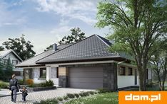 DOM.PL™ - Projekt domu AN TYMOTEUSZ G2 CE - DOM AO10-56 - gotowy koszt budowy Roof Design, Garage Doors, Cabin, House Styles, Outdoor Decor, Home Decor, Houses, Rustic Homes, Homes