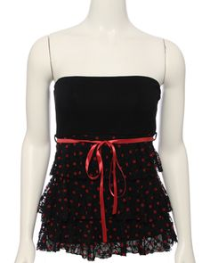 Belted Polka Lace Tier Tu Top ($21.99 @ Rue21)