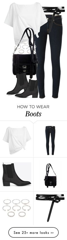 """Untitled #7026"" by nikka-phillips on Polyvore featuring rag & bone, AllSaints, Red Herring, Forever 21, Proenza Schouler and Yves Saint Laurent"