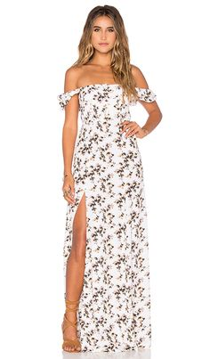 Shop for FLYNN SKYE Bardot Maxi Dress in Sunshine Bliss at REVOLVE. Free 2-3 day shipping and returns, 30 day price match guarantee.