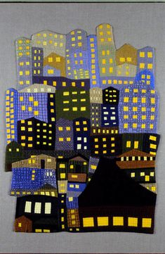 """""""The Lights Are On: Is Anyone Home?"""" by Carol To Artist Statement: I like wonky shapes...View complete text. The Lights Are On: Is Anyone Home? © 2007 by Carol To"""