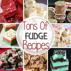 The Best Fudge Recipes! Easy Fudge Recipes Perfect for the Holidays. Everything from Eggnog, Peanut Butter, Gingerbread, Chocolate and More! ~ https://www.julieseatsandtreats.com