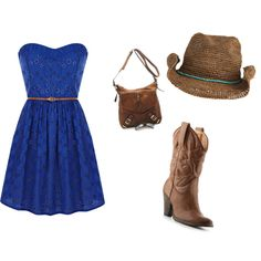 Cowgirl/ Dress. Add some cute shorts and a lace bolero. Perfect!