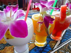 adding a fruit or a flower to almost any drink automatically makes it summery