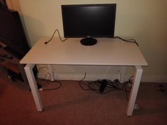 A bench desk is popular with our customers for creating a simple office space
