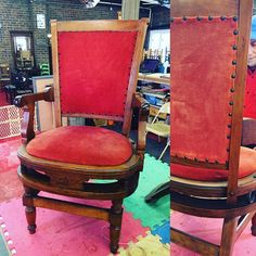 #canespotting! Groovy old Judges #chair with #caning to be restored by yours truly. #chairnerd #chairsarecool