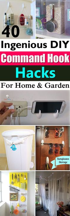 Command Hooks are so easy to use and a clean way to hang things up. Here're the 40 awesome DIY Command Hook Hacks for your home!