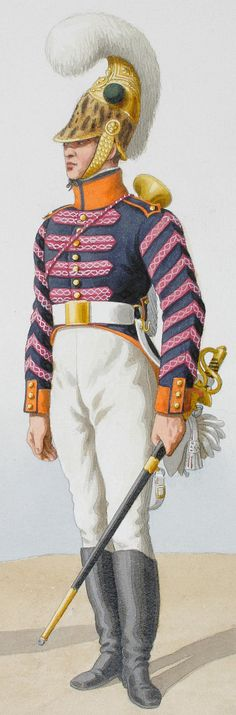 French; 5th Dragoons de l'Herault, Trumpeter, 1816.