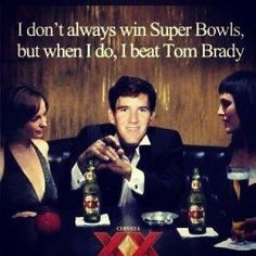 Eli Manning   (I'm not a fan of either the Giants or the Patriots, but I thought this was funny)
