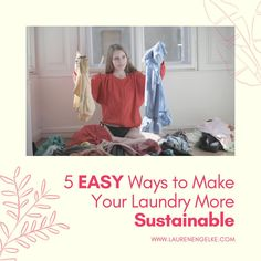 Here's some tips below on how to wash your laundry in a sustainable style. #sustainable #laundry #ecofriendly #lifestyle Fast Fashion, Slow Fashion, Ethical Fashion, Fashion Brands, Fashion Tips, Sustainable Style, Sustainable Living, Sustainable Fashion, Natural Detergent