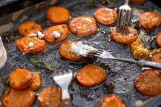 Pečené meruňky se sýrem ricotta