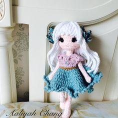 月兔耳 靈感源於俄羅斯模特兒Nastya #月兔耳 #doll #dolls #crochetdoll #amigurumi #craft #handmade #毛線娃娃 #編織 #編みぐるみ #手作り #人形娃娃