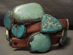 THE-BEST-VINTAGE-NAVAJO-HUGE-TURQUOISE-SILVER-HAT-CONCHO-BELT-OLD