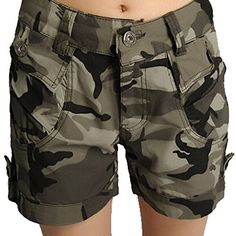 Aubig Ladies Camouflage Trousers Shorts Pants ** Details can be found by clicking on the image.