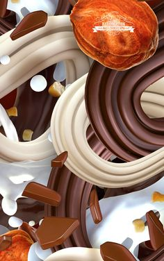 Walls Cornetto Ice Cream illustration Advert by Neil Duerden, via Behance