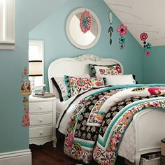 Seraphina bedding pottery barn teen, Sera's bedding and mobile