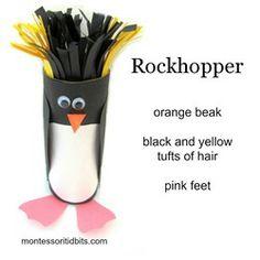Antartica Rockhopper penguin craft
