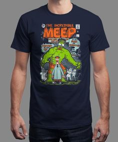 """""""Incredible Meep"""" is today's £8/€10/$12 tee for 24 hours only on www.Qwertee.com Pin this for a chance to win a FREE TEE this weekend. Follow us on pinterest.com/qwertee for a second! Thanks:)"""