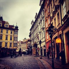 Prague streetscape - Czech Republic